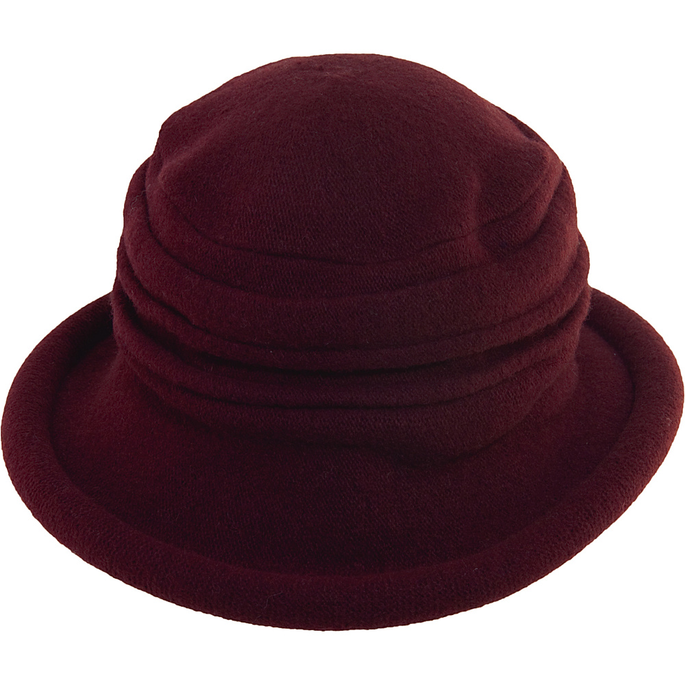 Scala Hats Packable Wool Cloche Wine Scala Hats Hats Gloves Scarves