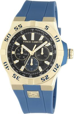 Vince Camuto Watches Men's Multifunction Silicone Strap Watch - 43mm Blue - Vince Camuto Watches Watches