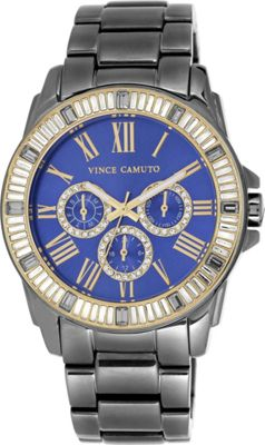 Vince Camuto Watches Women's Crystal Bezel Multifunction Bracelet Watch Grey - Vince Camuto Watches Watches