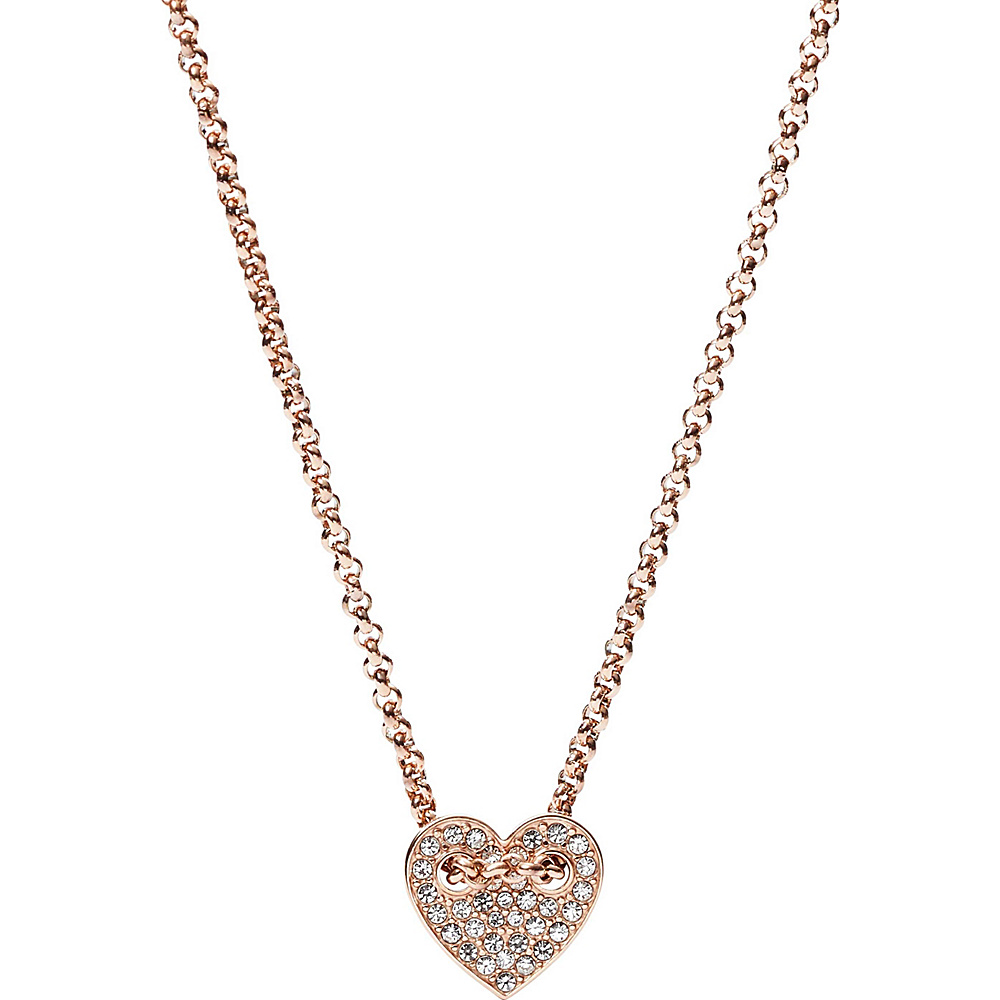Fossil Heart Necklace Rose Gold - Fossil Other Fashion Accessories - Fashion Accessories, Other Fashion Accessories