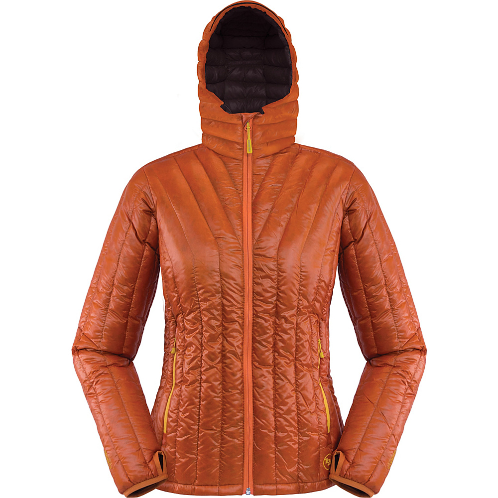 Big Agnes Womens Shovelhead Hooded Jacket XS Pumpkin Chestnut Big Agnes Women s Apparel