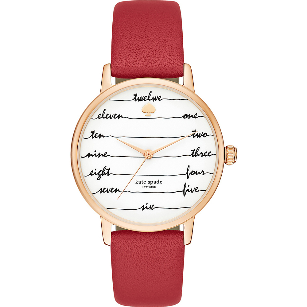 kate spade watches Leather Metro Watch Red kate spade watches Watches