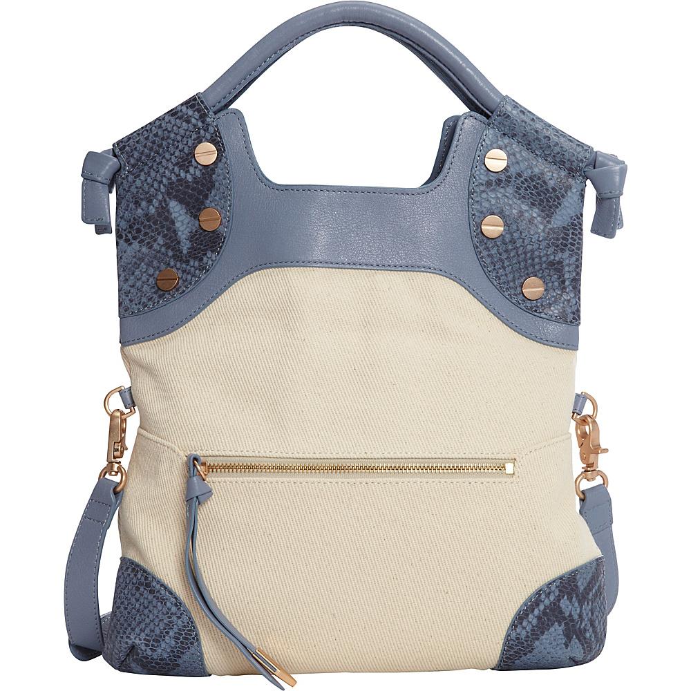 Foley Corinna Cerberus Lady Tote Azul Snake Canvas Combo Foley Corinna Designer Handbags