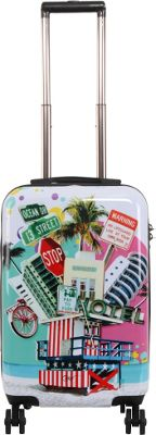 Triforce Francisco Ceron Pop Art South Beach 22 inch Carry-On Spinner Luggage South Beach - Triforce Softside Carry-On