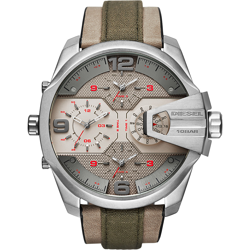 Diesel Watches Uber Chief Two Hand Leather Watch Green - Diesel Watches Watches
