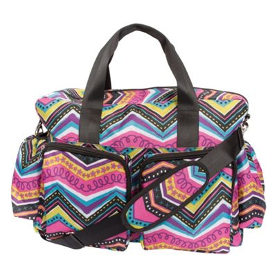 Trend Lab Modern Multi Chevron Deluxe Duffle Diaper Bag Modern Multi - Trend Lab Diaper Bags & Accessories