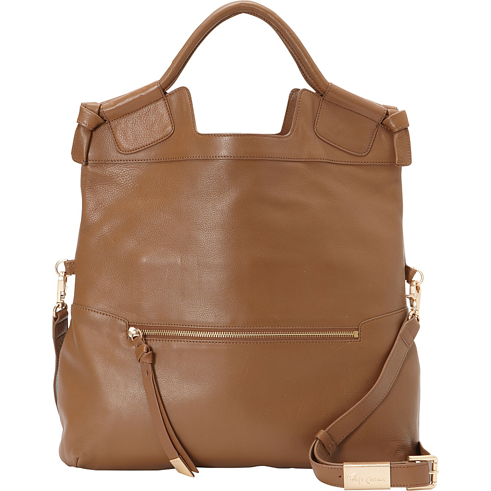 Foley Corinna Mid City Tote Chestnut Foley Corinna Designer Handbags