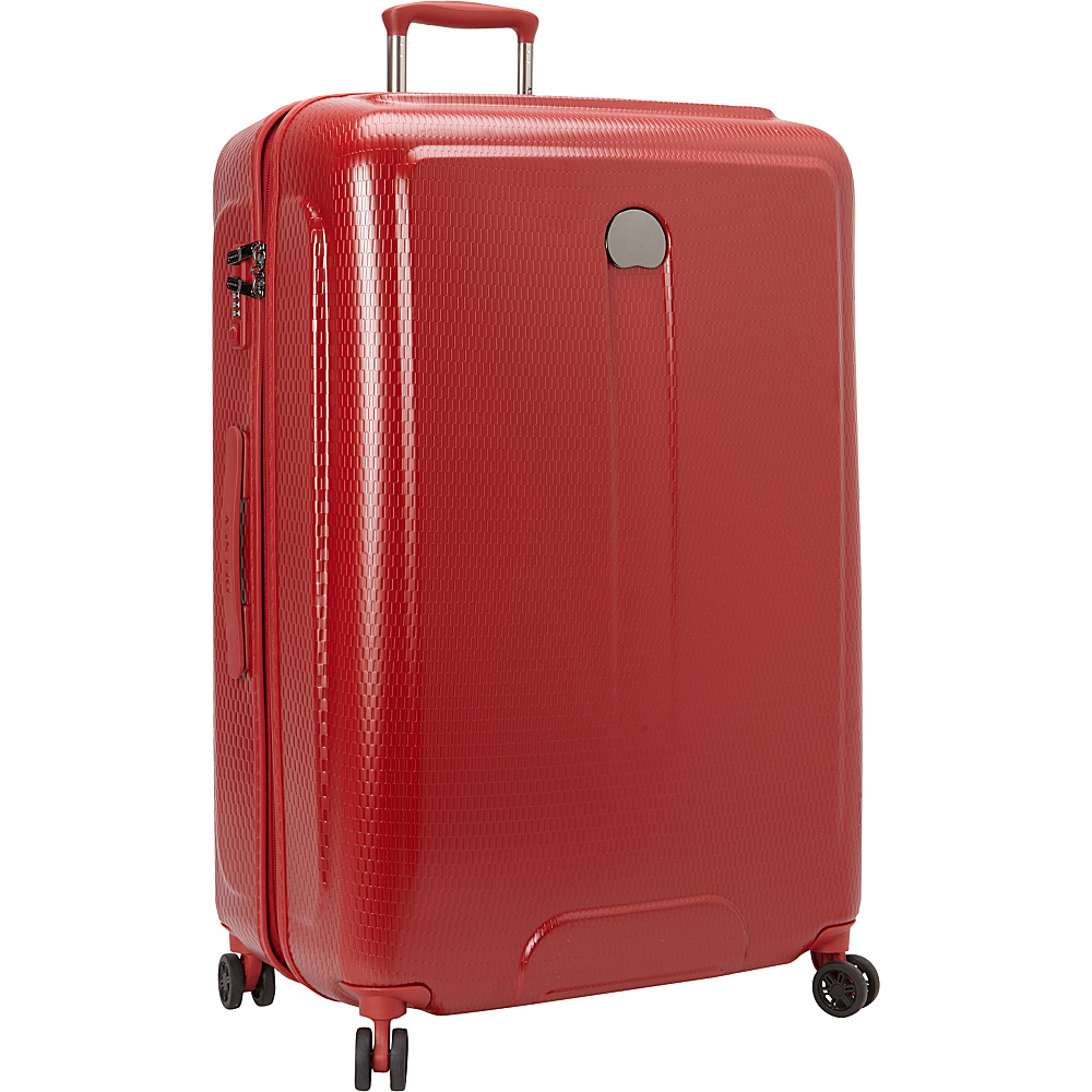 Delsey Embleme 30 Spinner Trolley Red Delsey Hardside Checked