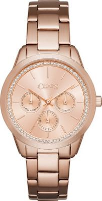 Chaps Kasia Gold-Tone Chronograph Watch Rose Gold - Chaps Watches