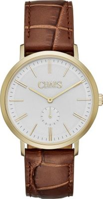 Chaps Dunham Leather Two-Hand Watch Brown - Chaps Watches