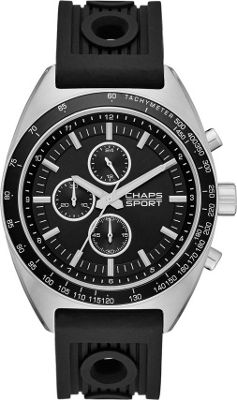 Chaps Rockton Silicone Chronograph Watch Black - Chaps Watches