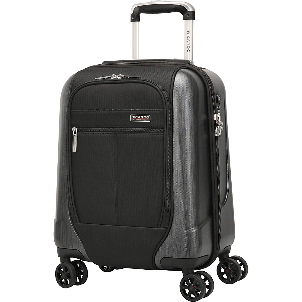 Ricardo Beverly Hills Mulholland Drive 17 Inch 4 Wheel Expandable WheelAboard Black Ricardo Beverly Hills Softside Carry On