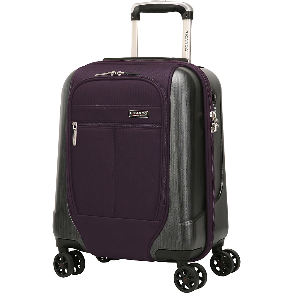Ricardo Beverly Hills Mulholland Drive 17 Inch 4 Wheel Expandable WheelAboard Aubergine Purple Ricardo Beverly Hills Softside Carry On