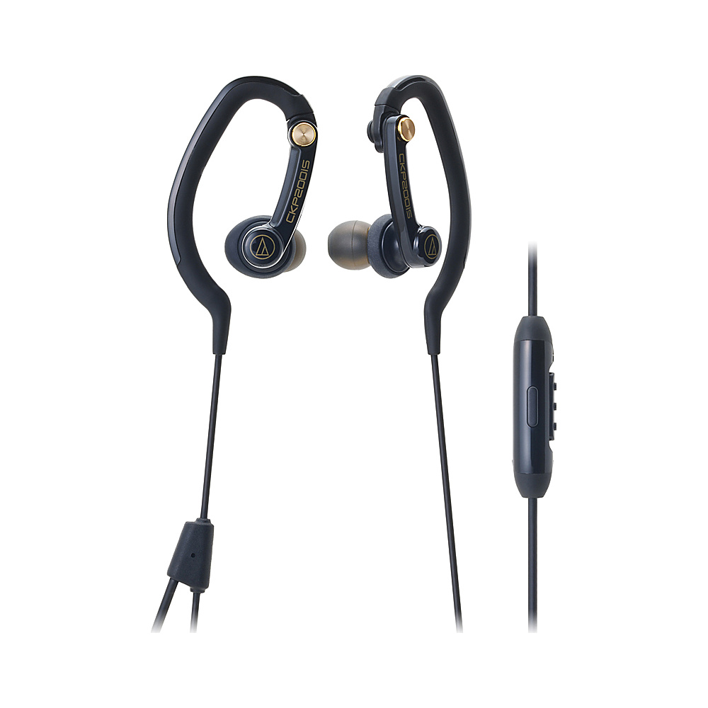 Audio Technica SonicSport In-Ear Headphones for Smartphones Black - Audio Technica Electronics