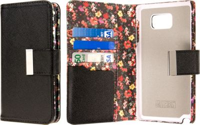 EMPIRE KLIX Klutch Designer Wallet Case, Samsung Galaxy Note 5 Vintage Pink Flower - EMPIRE Electronic Cases