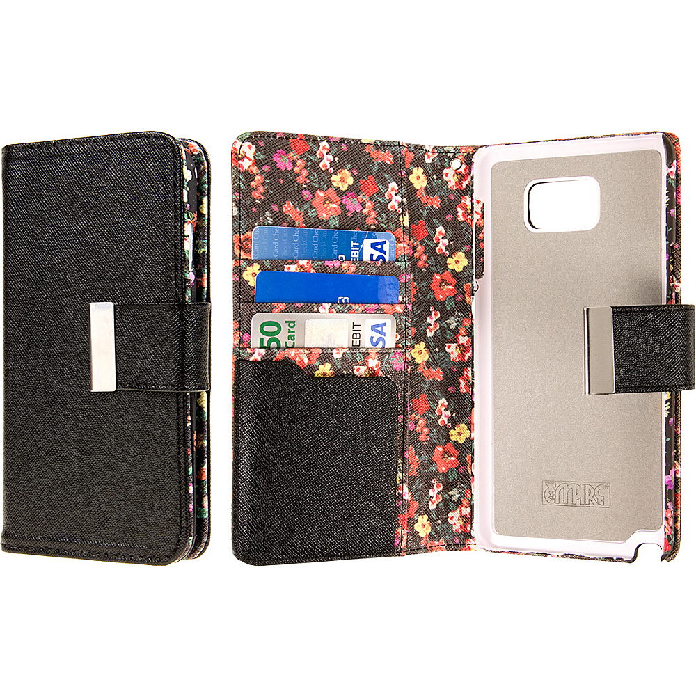 EMPIRE KLIX Klutch Designer Wallet Case Samsung Galaxy Note 5 Vintage Pink Flower EMPIRE Electronic Cases