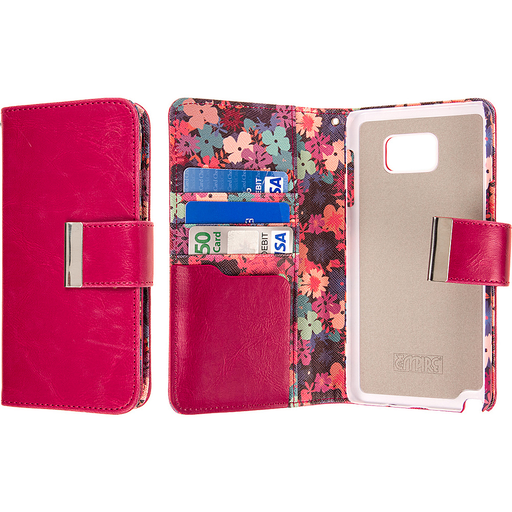 EMPIRE KLIX Klutch Designer Wallet Case Samsung Galaxy Note 5 Hot Pink Flower Garden EMPIRE Electronic Cases