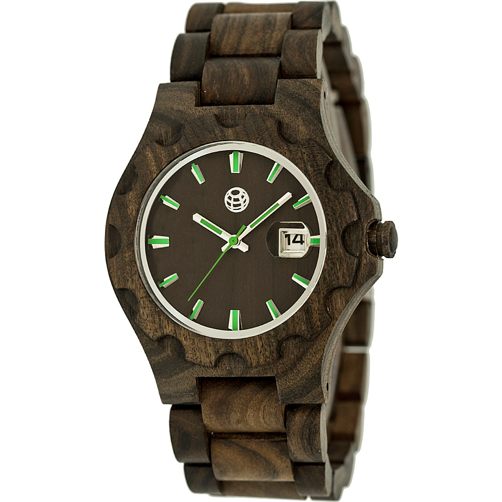 Earth Wood Gila Wood Unisex Watch Dark Brown Earth Wood Watches