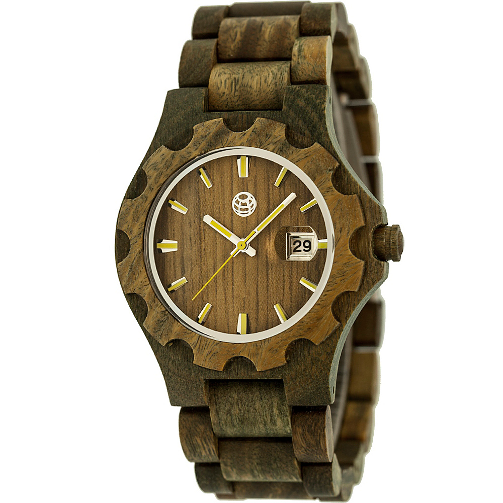 Earth Wood Gila Wood Unisex Watch Olive Earth Wood Watches