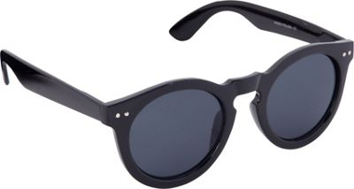 POP Fashionwear Classic Vintage Fashion Round Sunglasses Black/Smoke Lens - POP Fashionwear Sunglasses