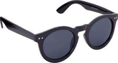 POP Fashionwear Classic Vintage Fashion Round Sunglasses Black/Smoke Lens - POP Fashionwear Sunglasses