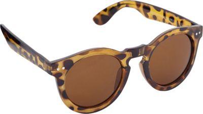 POP Fashionwear Classic Vintage Fashion Round Sunglasses Tortoise/Brown Lens - POP Fashionwear Sunglasses