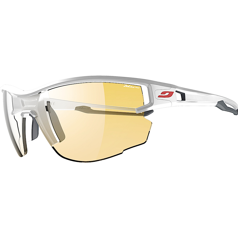 Julbo Aero Sunglasses with Zebra Light Lens White Grey Julbo Sunglasses