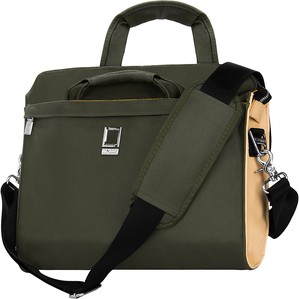 Lencca Capri Messenger Shoulder Bag for 10 12 Devices Olive Lencca Non Wheeled Business Cases