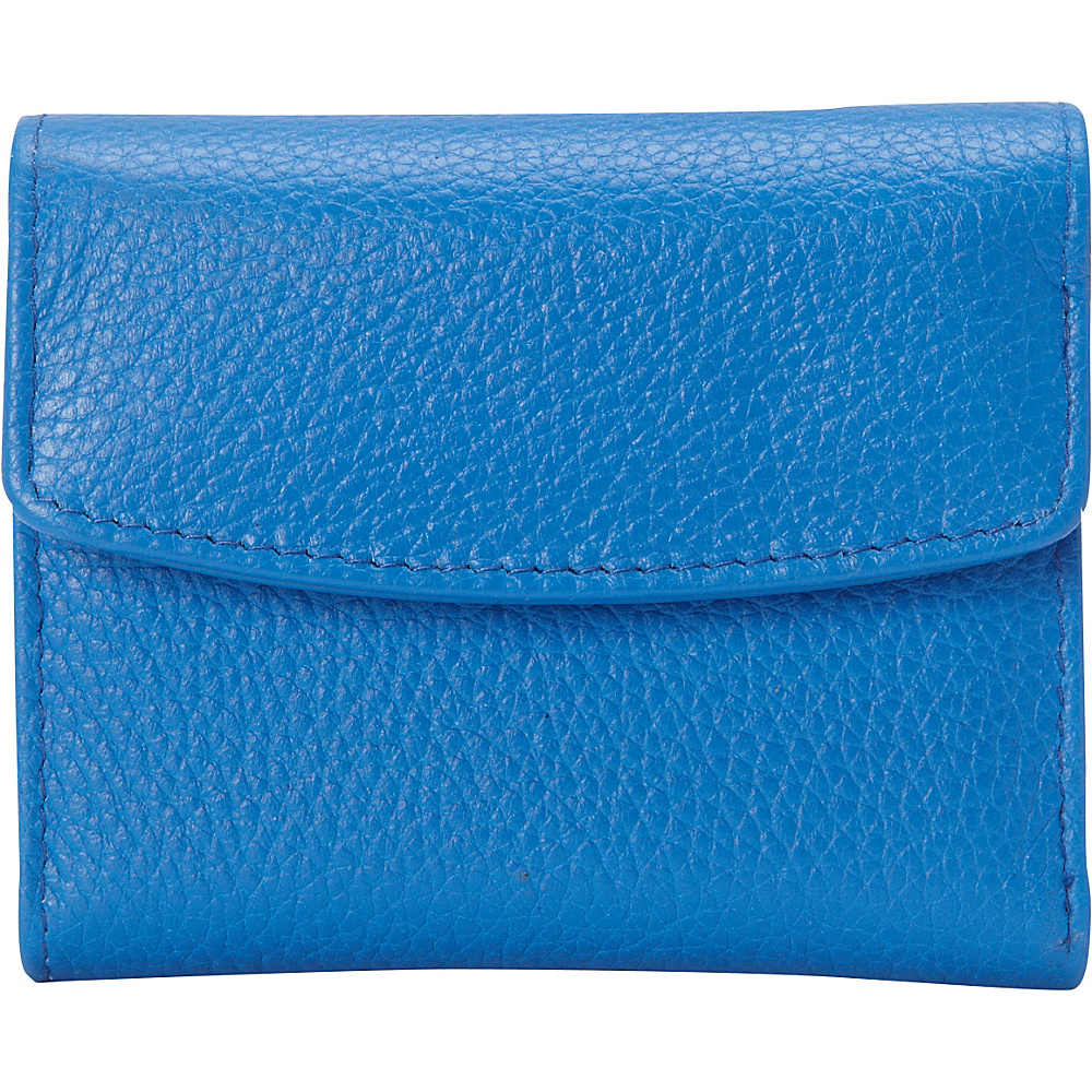 Buxton Hudson Pik-Me-Up Mini-Trifold Strong Blue - Buxton Womens Wallets - Women's SLG, Women's Wallets