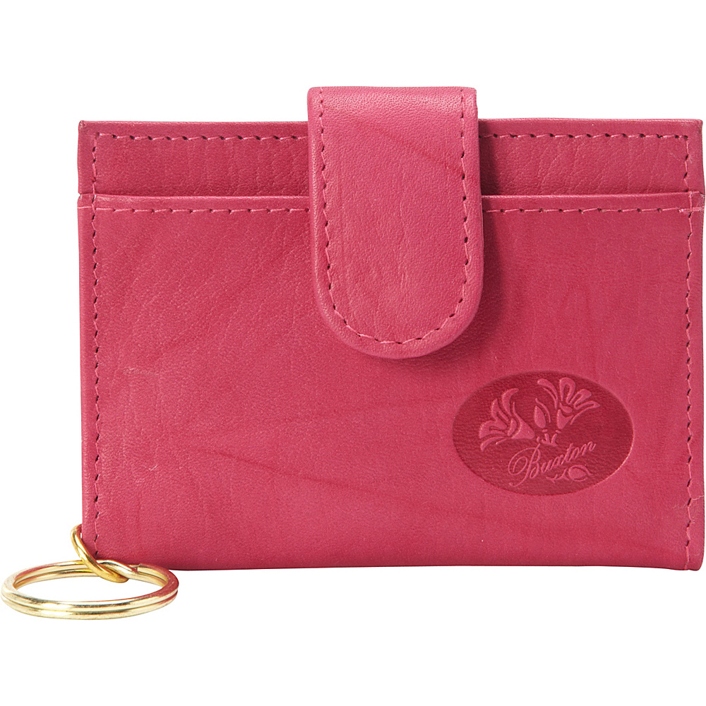 Buxton Heiress Pik-Me-Up Tab Card Case Fuchsia Pink - Buxton Womens Wallets - Women's SLG, Women's Wallets