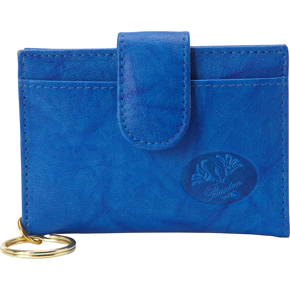 Buxton Heiress Pik-Me-Up Tab Card Case Strong Blue - Buxton Womens Wallets - Women's SLG, Women's Wallets