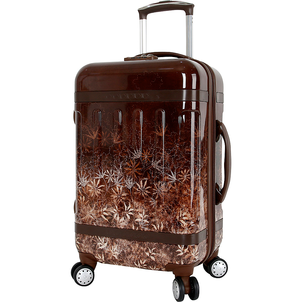 J World New York Taqoo Polycarbonate Carry on Art Luggage Brown Night - J World New York Hardside Carry-On - Luggage, Hardside Carry-On