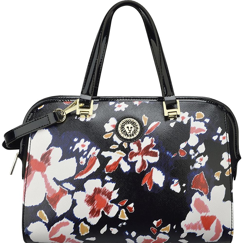 Anne Klein Fresh Start Small Satchel Sorbet Pink Multi/Black/Black - Anne Klein Manmade Handbags