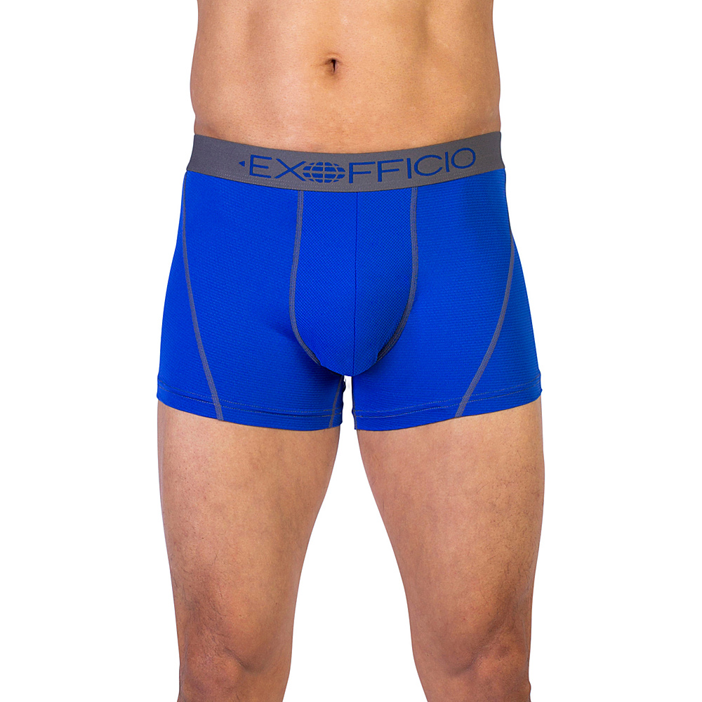 ExOfficio Give-N-Go Sport Mesh 3 Boxer Brief S - Royal - ExOfficio Mens Apparel - Apparel & Footwear, Men's Apparel