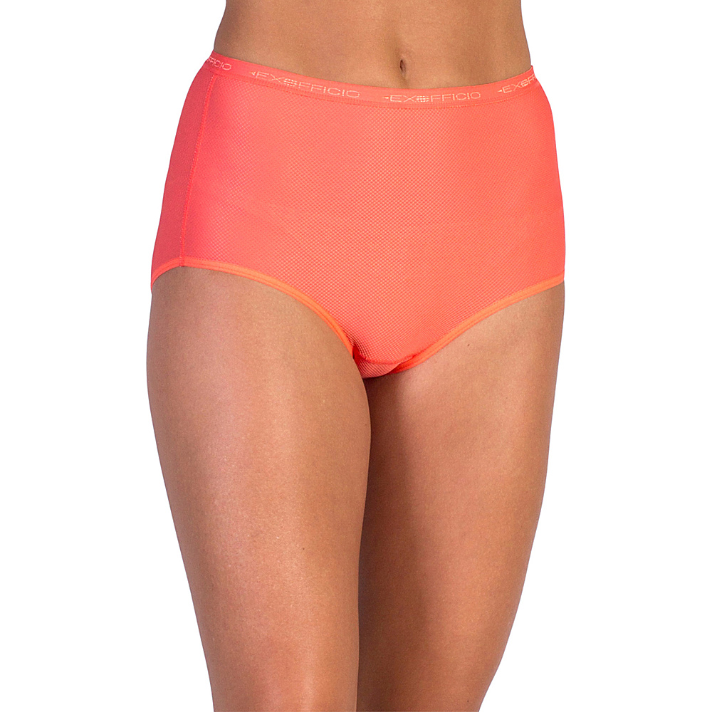 ExOfficio Give-N-Go Full Cut Brief XS - Hot Coral - ExOfficio Womens Apparel - Apparel & Footwear, Women's Apparel