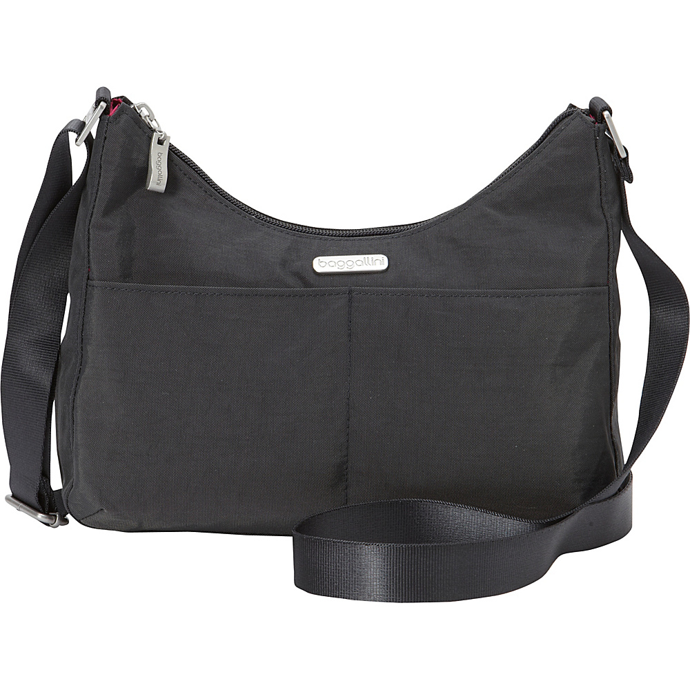baggallini RFID Harmony Medium Hobo - Exclusive Charcoal - baggallini Fabric Handbags