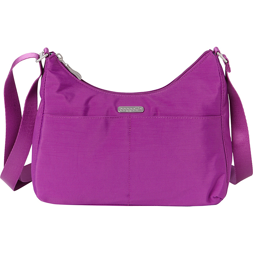 baggallini RFID Harmony Medium Hobo - Exclusive Magenta - baggallini Fabric Handbags - Handbags, Fabric Handbags