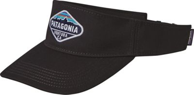 Patagonia Fitz Roy Crest Visor One Size - Black - Patagonia Hats/Gloves/Scarves