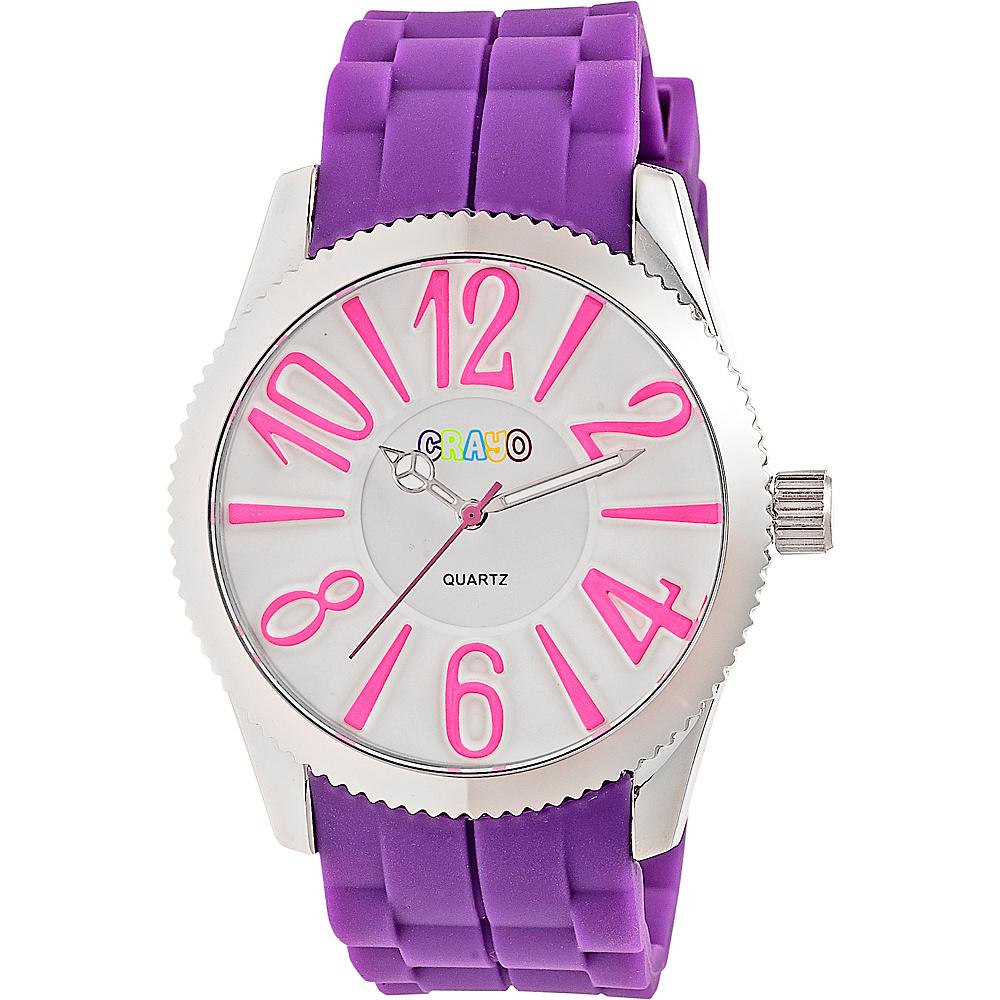 Crayo Magnificent Ladies Watch Purple Crayo Watches