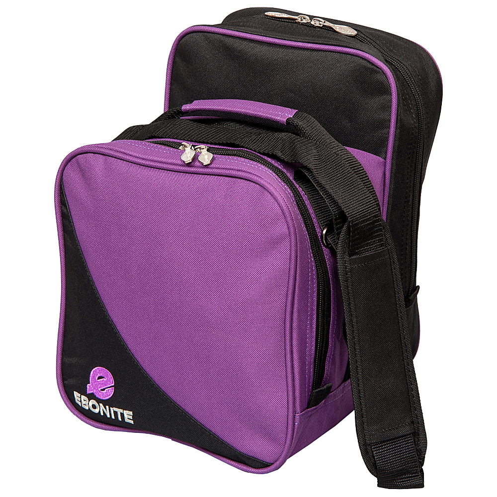 Ebonite Compact Shoulder Tote Purple Ebonite Bowling Bags