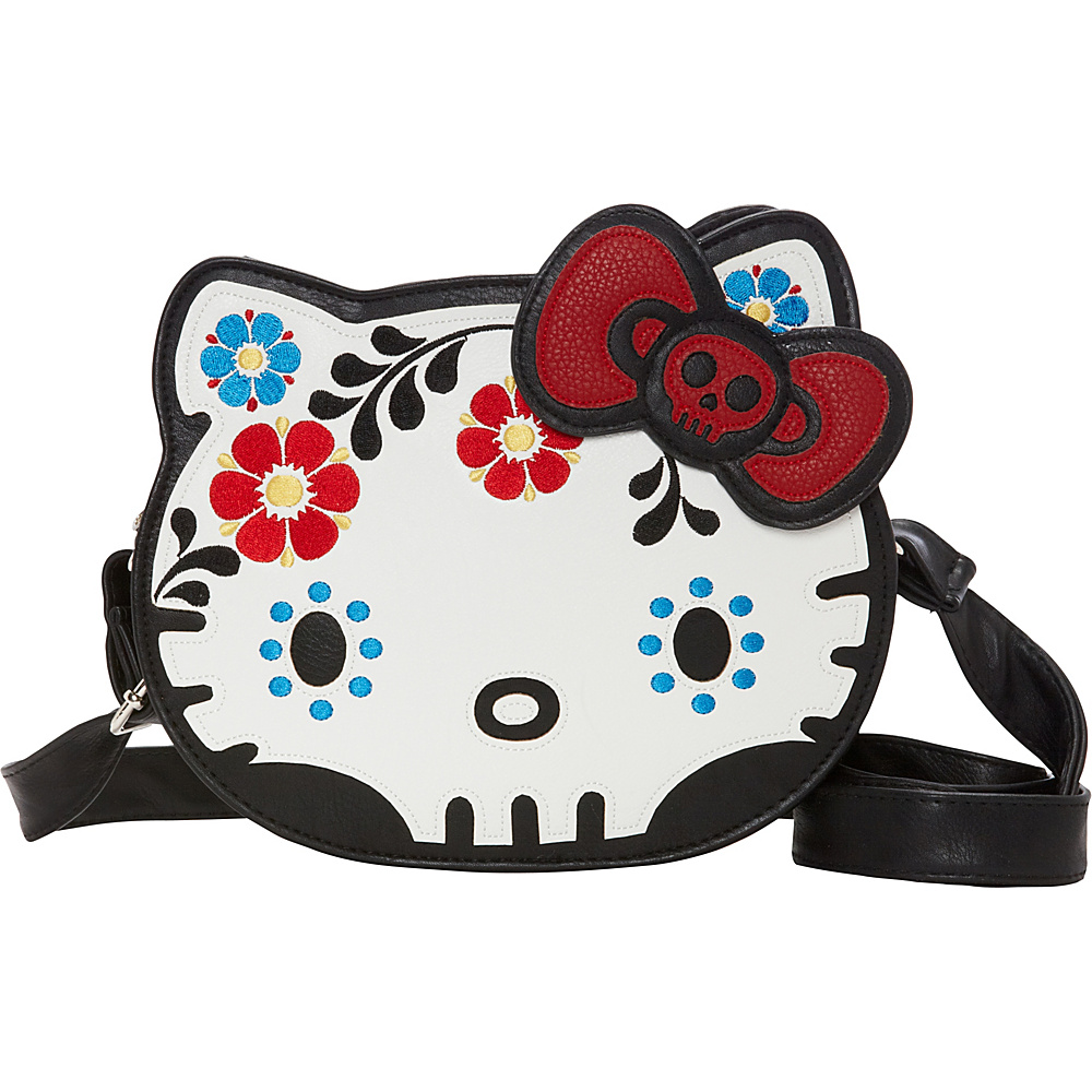 0b7ab87aa1  32.29 More Details · Loungefly Hello Kitty Day Of The Dead Diecut Head  Crossbody White Multi - Loungefly Manmade
