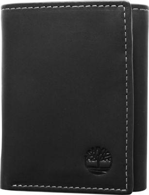 Timberland Wallets Hunter Trifold Wallet Black - Timberland Wallets Men's Wallets