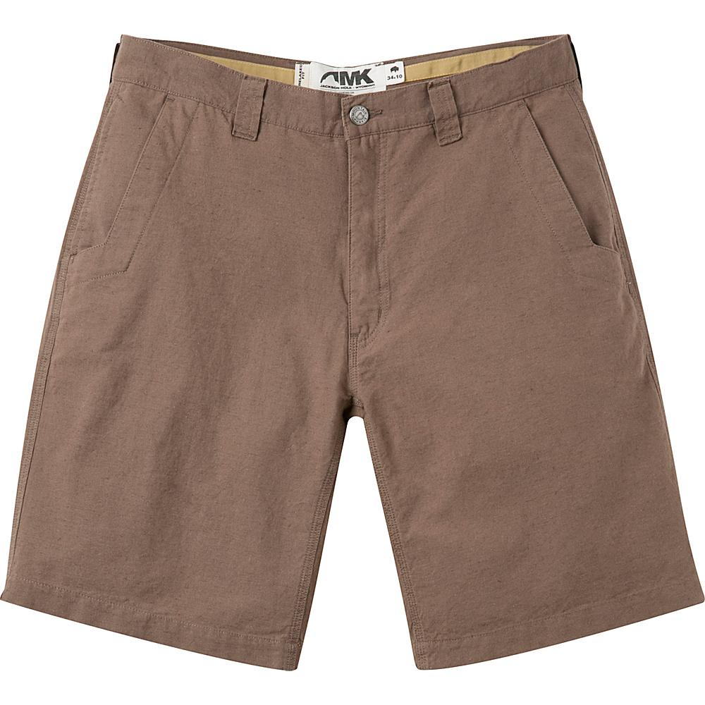 Mountain Khakis Boardwalk Plaid Shorts 35 - 12in - Firma Solid - Mountain Khakis Mens Apparel - Apparel & Footwear, Men's Apparel