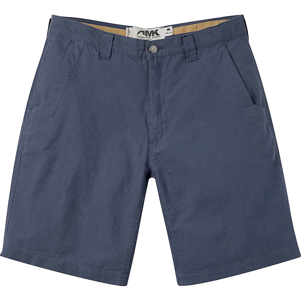 Mountain Khakis Boardwalk Plaid Shorts 33 - 12in - Midnight Blue Solid - Mountain Khakis Mens Apparel - Apparel & Footwear, Men's Apparel