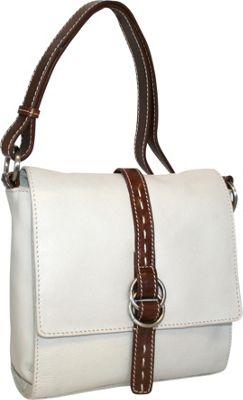 Nino Bossi Maggie May Crossbody Bone - Nino Bossi Leather Handbags