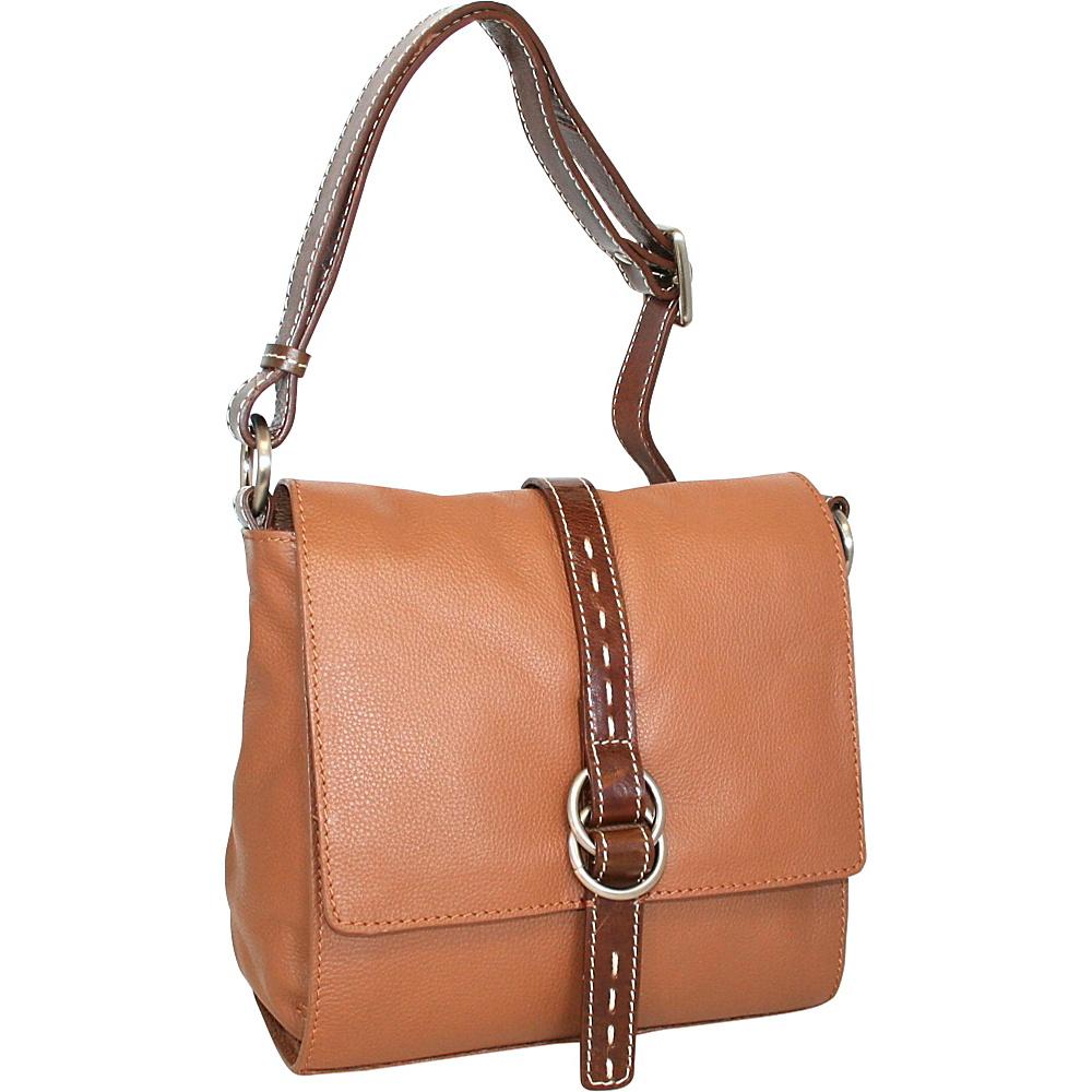 Nino Bossi Maggie May Crossbody Cognac Nino Bossi Leather Handbags