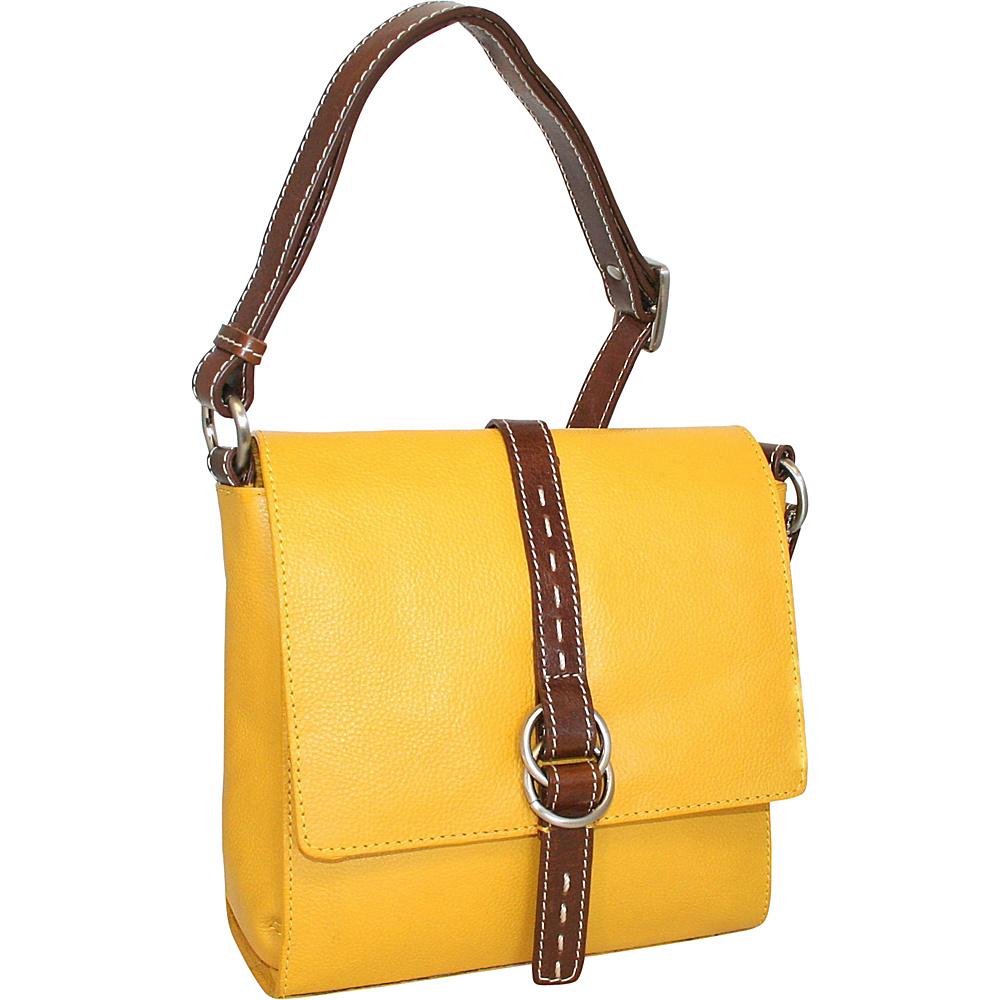 Nino Bossi Maggie May Crossbody Lemon - Nino Bossi Leather Handbags - Handbags, Leather Handbags