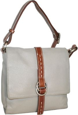 Nino Bossi Maggie May Crossbody Stone - Nino Bossi Leather Handbags