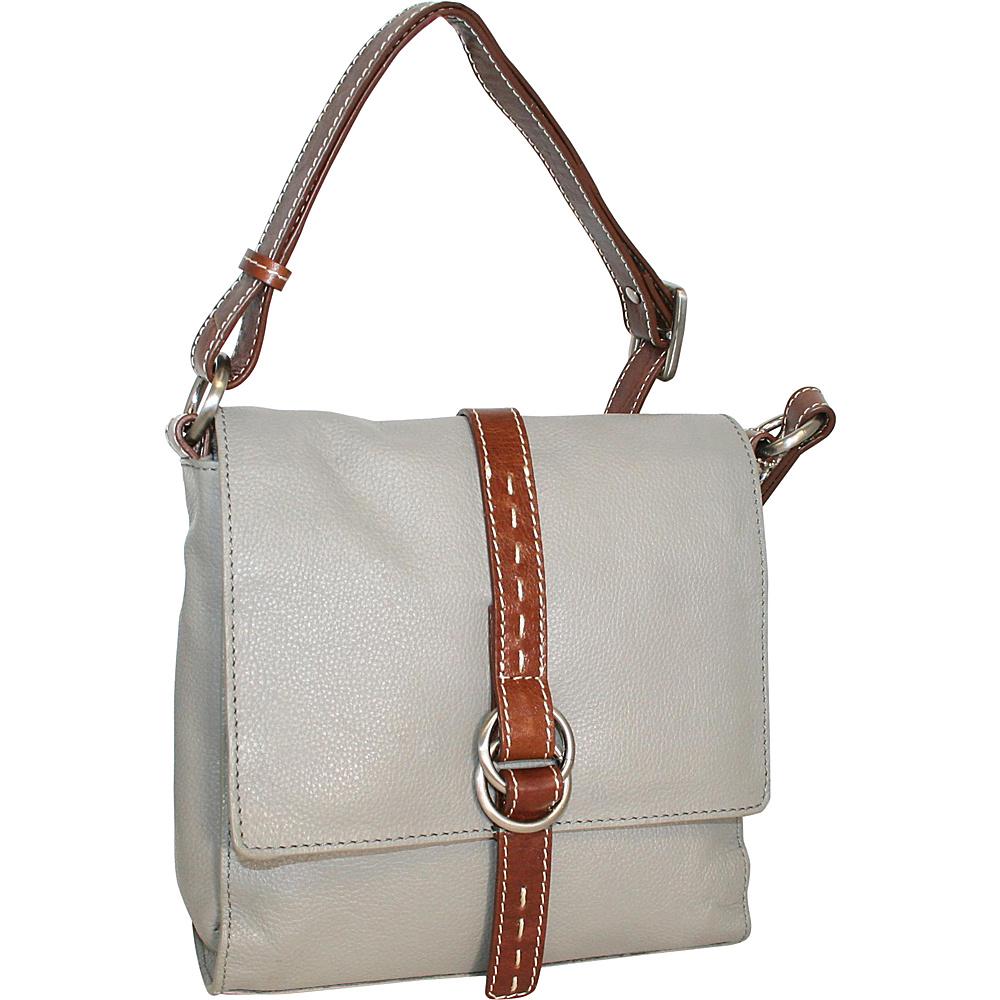 Nino Bossi Maggie May Crossbody Stone - Nino Bossi Leather Handbags - Handbags, Leather Handbags