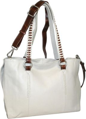 Nino Bossi Ruby Tuesday Shoulder Bag Bone - Nino Bossi Leather Handbags